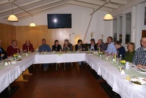 In geselliger Runde saßen die Mitglieder des TC Ellerbek zusammen