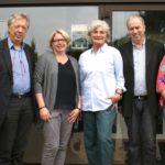 Diskutierten in Bönningstedt über die geplante Gesetzesänderung (v.l.) Dr. Ernst Dieter Rossmann, Maike Jahn-Gehring, Petra Crone, Hans-Peter Stahlund Frauke Foth